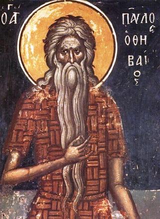 Ο Όσιος Παύλος ο Θηβαίος εορτάζει στις 15 Ιανουαρίου.