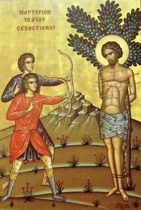 Ο Άγιος Σεβαστιανός και οι συν αυτού συναθλήσαντες εορτάζουν στις 18 Δεκεμβρίου.