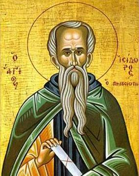 Ο Όσιος Ισίδωρος ο Πηλουσιώτης εορτάζει στις 4 Φεβρουαρίου.