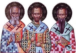 Παρακλητικός Κανών στους Αγίους Τρείς Ιεράρχες Βασίλειο τον Μέγα, Γρηγόριο τον Θεολόγο και Ιωάννη τον Χρυσόστομο.