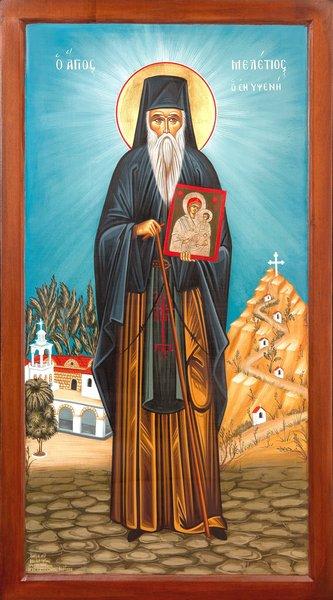Βίος Οσίου πατρός ημών Μελετίου του εν Υψένη Ρόδου. Εορτάζει 12 Φεβρουαρίου ε.ε.