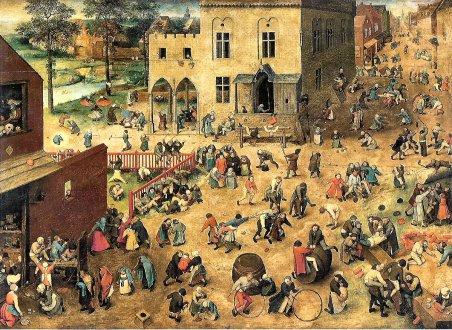 A mother's prayer for her children. Childrens Games by Pieter Bruegel (1525-1569)