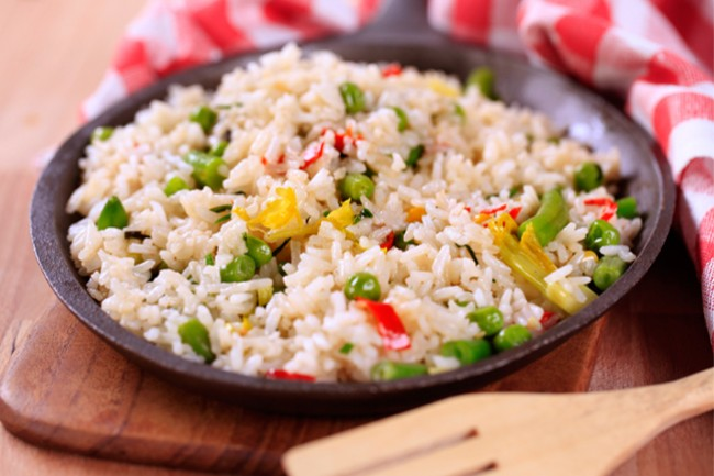 Ρύζι με λαχανικά.