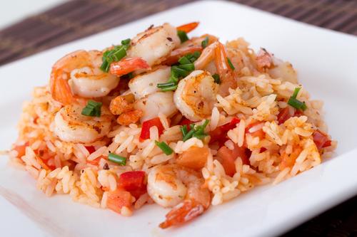 Γαρίδες με Ρύζι.