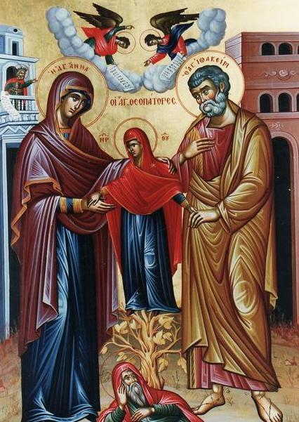 Οι Αγίοι Θεοπατόρες Ιωακείμ και Άννα εορτάζουν στις 9 Σεπτεμβρίου ε.ε.