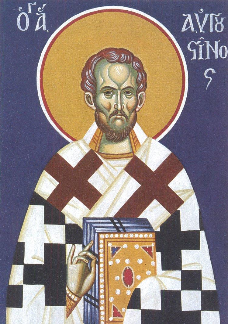 Ο Άγιος Αυγουστίνος Επίσκοπος Ιππώνος τιμάται στις 15 Ιουνίου.