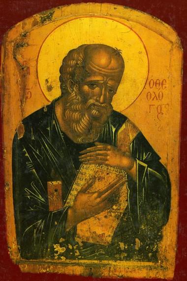 Ο Άγιος Ιωάννης ο Θεολόγος και Ευαγγελιστής εορτάζει στις 8 Μαΐου Σύναξις της αγίας κόνεως της εκπορευομένης εκ του τάφου του Ιωάννου του Θ?