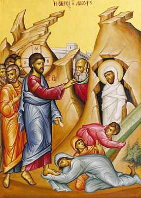 Ο άγιος Λάζαρος, ο τετραήμερος.