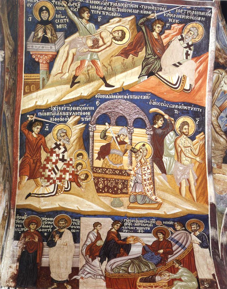 Ο άγιος ιερομάρτυρας Άνθιμος, επίσκοπος Νικομηδείας, 3 Σεπτεμβρίου ε.ε.