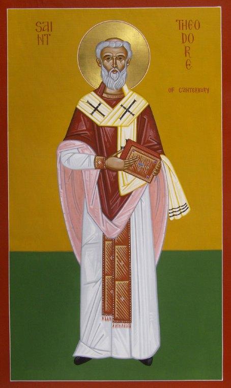 Ο άγιος Θεόδωρος αρχιεπίσκοπος Καντερβουρίας. 19 Σεπτεμβρίου ε.ε.