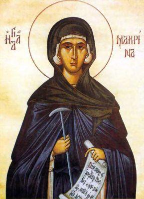 """Η """"μεγάλη"""" αδελφή στην αγιασμένη οικογένεια του Βασιλείου και της Εμμέλειας. Αγία Μακρίνα. 19 Ιουλίου ε.ε."""