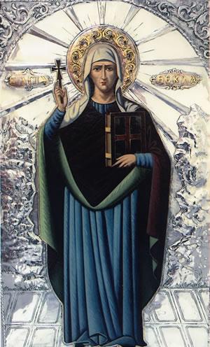 Η Αγία Θέκλα η Ισαπόστολος εορτάζει στις 24 Σεπτεμβρίου.