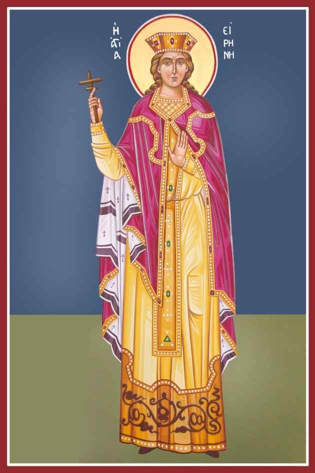 Η Αγία Ειρήνη η Μεγαλομάρτυς τιμάται στις 5 Μαΐου.