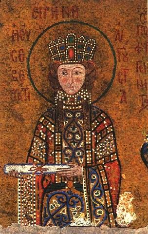Αγία Ειρήνη η βασιλίσσα, της διά του αγίου και αγγελικού σχήματος μετονομασθείσης Ξένης Mοναχής. 13 Αυγούστου ε.ε.