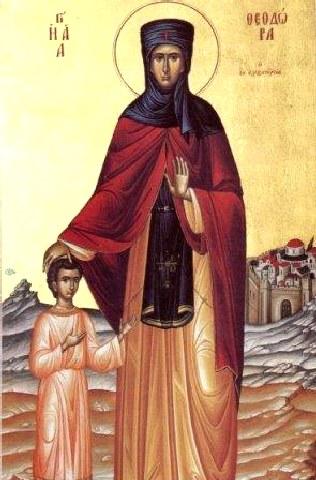 Οσία Θεοδώρα από την Αλεξάνδρεια. 11 Σεπτεμβρίου ε.ε.