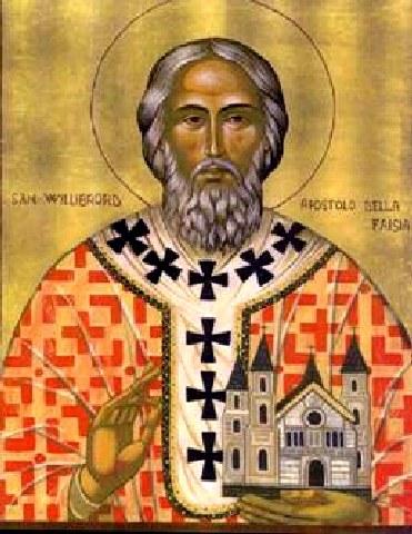 Άγιος Willibrord. 7 Νοεμβρίου ε.ε.