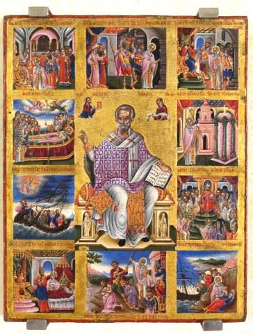 Άγιος Νικόλαος Αρχιεπίσκοπος Μύρων της Λυκίας, ο Θαυματουργός. 6 Δεκεμβρίου ε.ε.