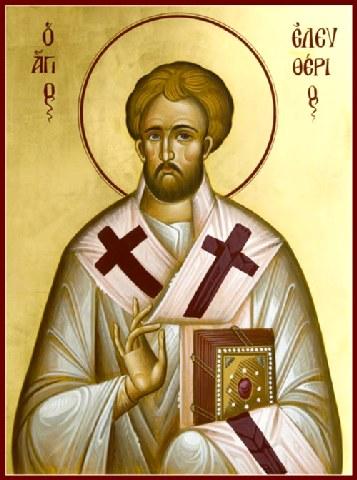 Άγιος Ελευθέριος ο Ιερομάρτυρας. 15 Δεκεμβρίου ε.ε.