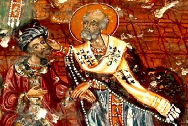 Το ευλογημένο χαστούκι του Αγίου Νικολάου στον Άρειο, εις την Α΄ Σύνοδο της Νίκαιας 325 μ.Χ.