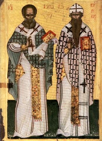 Άγιοι Αθανάσιος ο Μέγας και Κύριλλος Πατριάρχες Αλεξανδρείας. 18 Ιανουαρίου ε.ε.