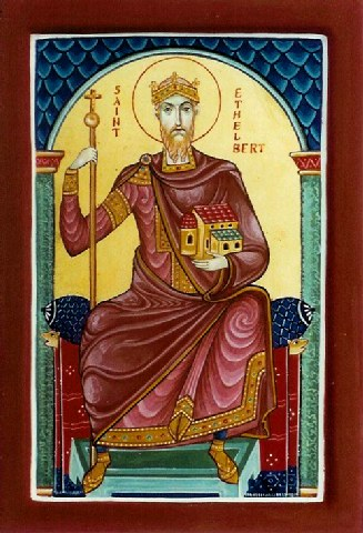 Άγιος Ethelbert βασιλιάς της Αγγλίας. 22 Φεβρουαρίου ε.ε.