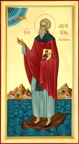 Όσιος Λαυρέντιος κτήτορας της Ιεράς Μονής Φανερωμένης στη Σαλαμίνα. 7 Μαρτίου ε.ε.