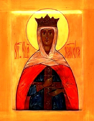Αγία Αλεξάνδρα η βασίλισσα και οι ακόλουθοι της Απολλώς, Ισαάκιος και Κοδράτος. 21 Απριλίου ε.ε.