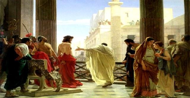 Μετά την θανάτωση του Χριστού, το τέλος του Πιλάτου, των Αρχιερέων Καϊάφα & Άννα.