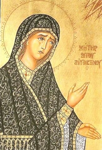 Αγία Μόνικα μητέρα του Αγίου Αυγουστίνου. 4 Μαίου ε.ε.