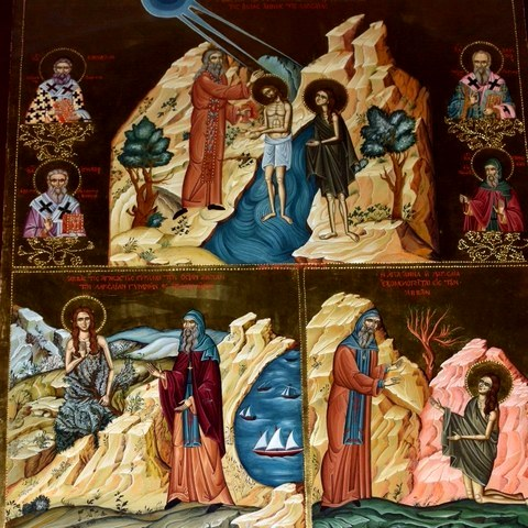Οσία Άννα και Ιωάννης ο γιος της. 13 Ιουνίου ε.ε.