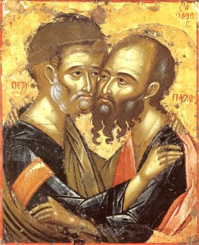 Άγιοι Πέτρος και Παύλος Πρωτοκορυφαίοι Απόστολοι. 29 Ιουνίου ε.ε.