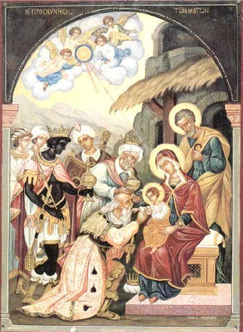 Τα δώρα των μάγων της Ιεράς Μονής Αγίου Παύλου Αγίου Όρους.