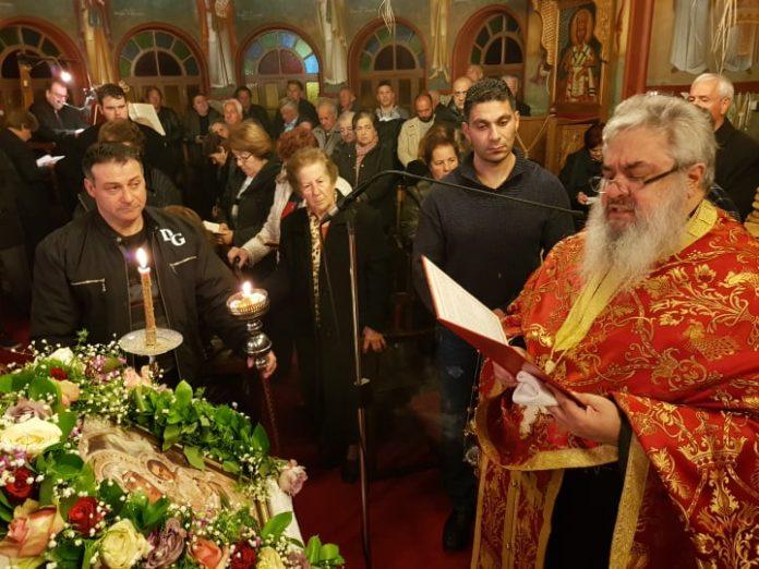 Η Ακολουθία των Α´ Χαιρετισμών στον Ιδρυματικό Ναό του Αγίου Τρύφωνος στην Ρόδο. (Φώτο)