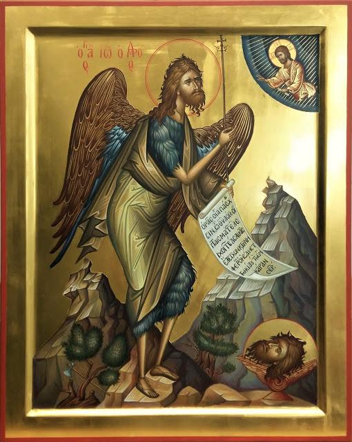Γιατί έχει φτερά ο άγ. Ιωάννης ο Πρόδρομος στις περισσότερες Βυζαντινές Αγιογραφίες που τον εικονίζουν;