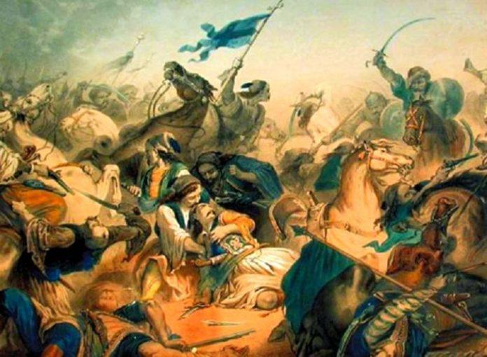 13 Ιουνίου 1821 : Η Μάχη του Λάλα - Οι Έλληνες επαναστάτες νικούν τους Τούρκους