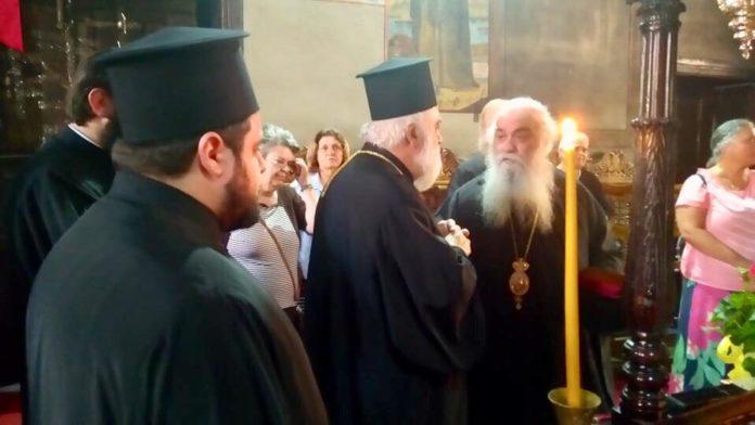 Επίσκεψη Μητροπολίτη Καστορίας κ.κ. Σεραφείμ, στην Ιερά Πατριαρχική Μονή Αγίας Αναστασίας, Βασιλικά Χαλικιδικής (Φώτο)