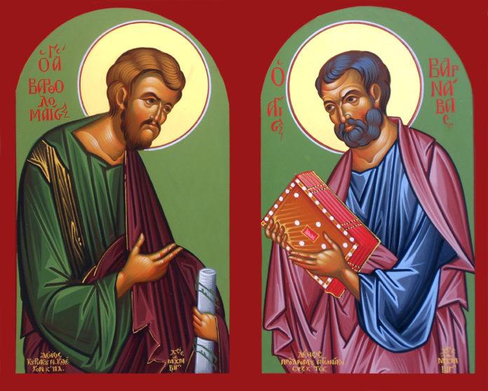 Άγιοι Βαρθολομαίος και Βαρνάβας. 11 Ιουνίου ε.ε.