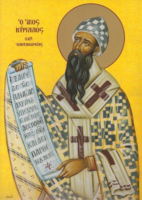 Άγιος Κύριλλος, Αρχιεπίσκοπος Αλεξανδρείας. 9 Ιουνίου ε.ε.